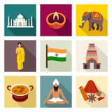 India icon set Stock Photography