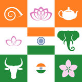 India. Icon set Royalty Free Stock Image