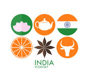 India. Icon set Stock Photography