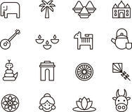 India icons Stock Photo