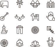 India icons Stock Photo