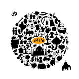 India, icons collection. Sketch for your design Royalty Free Stock Image
