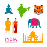 India Icons Stock Images