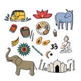 India icons. Stock Image