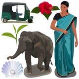 India Icons Royalty Free Stock Photo