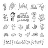 India, icons set. Sketch for your design royalty free stock photos
