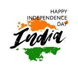 India Independence Day 15 august Lettering Calligraphy Illustration. India Independence Day 15 august Lettering Calligraphy Vector royalty free illustration