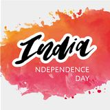 India Independence Day 15 august Lettering Calligraphy Illustration. India Independence Day 15 august Lettering Calligraphy Vector vector illustration