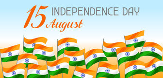 India Independence Day banner. Celebration 15 th of August.  royalty free illustration