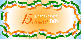 India Independence Day banner. Celebration 15 th of August.  vector illustration