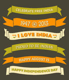 India Independence Day Banners Royalty Free Stock Images