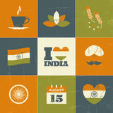 India Independence Day Collection Stock Photo