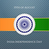 India Independence Day festive Badge. Vector illustration Stock Image