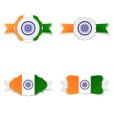 India Independence Day festive Labels Set. Vector Illustration Stock Photography