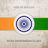 India Independence Day festive Tag. Vector illustration Royalty Free Stock Photos