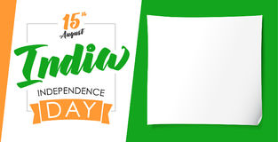 India Independence Day greeting banner Royalty Free Stock Images