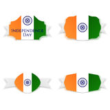 India Independence Day greeting Banners Set Stock Photography