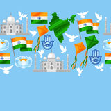 India Independence Day greeting card. Celebration 15 th of August.  Royalty Free Illustration