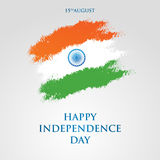 India Independence Day greeting card vector illustration. 15th august independence day. India Independence Day greeting card vector illustration. 15th august Royalty Free Stock Photos