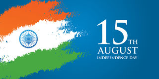 India Independence Day greeting card vector illustration. 15th august independence day. India Independence Day greeting card vector illustration. 15th august Stock Photography