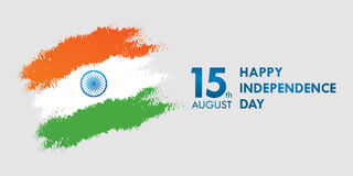 India Independence Day greeting card vector illustration. 15th august independence day. India Independence Day greeting card vector illustration. 15th august Royalty Free Stock Image