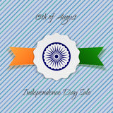 India Independence Day holiday Badge Stock Photography