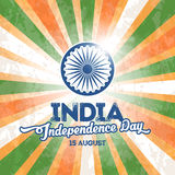 India Independence Day. Indian national holiday India Independence Day. 15th of August. Greeting card design. Vector illustration stock illustration