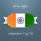 India Independence Day paper Badge Royalty Free Stock Image