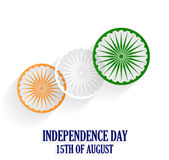 India Independence Day poster. 15th of August. White background. Vector illustration Stock Images