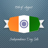 India Independence Day realistic Badge Royalty Free Stock Photos