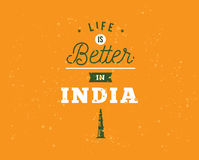 India Independence day, 15th august. Vector emblems. Royalty Free Stock Images