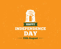 India Independence day, 15th august. Vector emblems. India Independence day, 15th august. Vector typographic emblem, logo or badge. Usable for greeting cards Royalty Free Stock Image