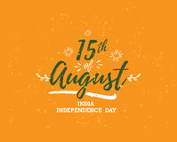 India Independence day, 15th august. Vector emblems. India Independence day, 15th august. Vector typographic emblem, logo or badge. Usable for greeting cards Royalty Free Stock Photos
