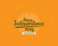 India Independence day, 15th august. Vector emblems. Royalty Free Stock Photo