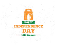 India Independence day, 15th august. Vector emblems. Royalty Free Stock Photography