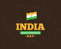 India Independence day, 15th august. Vector emblems. India Independence day, 15th august. Vector typographic emblem, logo or badge. Usable for greeting cards stock illustration