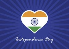 India independence day vector. Indian flag in the shape of heart. Independence Day India. Indian Heart Flag. Festive vector illustration. Important day royalty free illustration