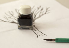 India ink Stock Photo