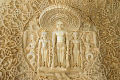 India, Jain temple in Ranagpur, Royalty Free Stock Image