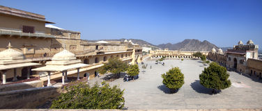 India  Jaipur. Amber fort, Royalty Free Stock Photography