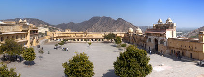 India  Jaipur. Amber fort, Royalty Free Stock Images