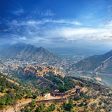 India Jaipur Amber fort in Rajasthan. Ancient indian palace Stock Photo