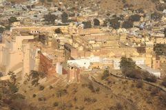 India, Jaipur: The city and the palace Royalty Free Stock Photography