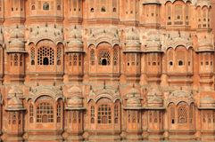 India Jaipur Hawa Mahal the palace of winds Royalty Free Stock Images