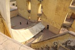 India Jaipur Jaipur Observatory Sundial Royalty Free Stock Photos