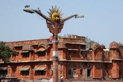 india jaipur lampgata Royaltyfri Bild