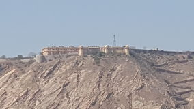INDIA. Jaipur Tiger Fort far From the Distance Stock Photo