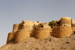 India, Jaisalmer Fort. Beautiful Fort in Jaisalmer city on the deser in India. Rajasthan royalty free stock images