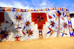 india jaisalmerrajasthan väggar Arkivfoton