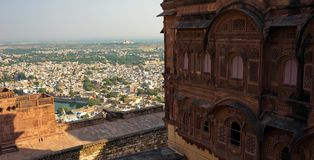 India Jodhpur. City of the victory, the political center in the castle in Jodhpur royalty free stock image